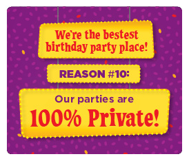 #10 Reason - Our parties are 100% private
