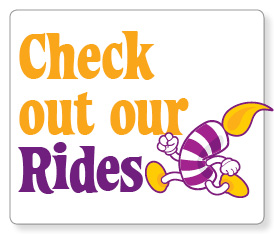 See our inflatables and rides!