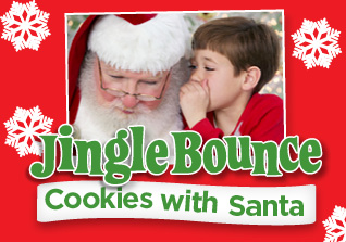 jingle bounce cookies with santa
