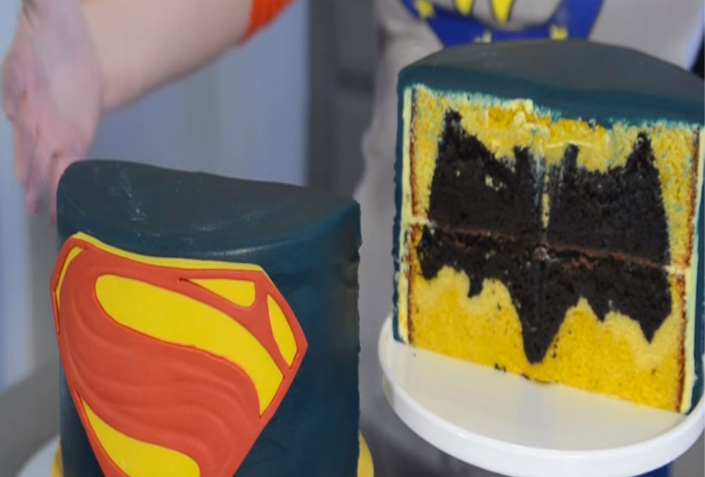 Perfect Batman v Superman Kids Birthday Cake
