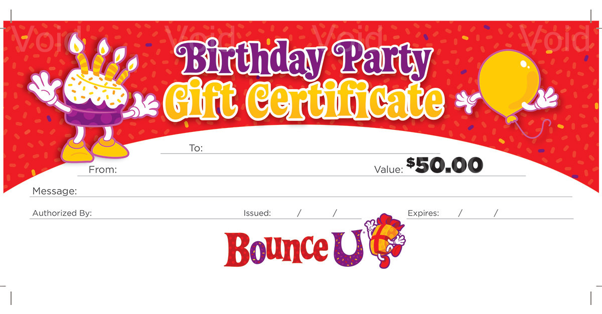 A BounceU gift card is a great option for any boy's gift.