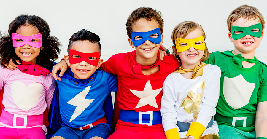 Every kid wants to be a superhero, this theme helps make it possible.