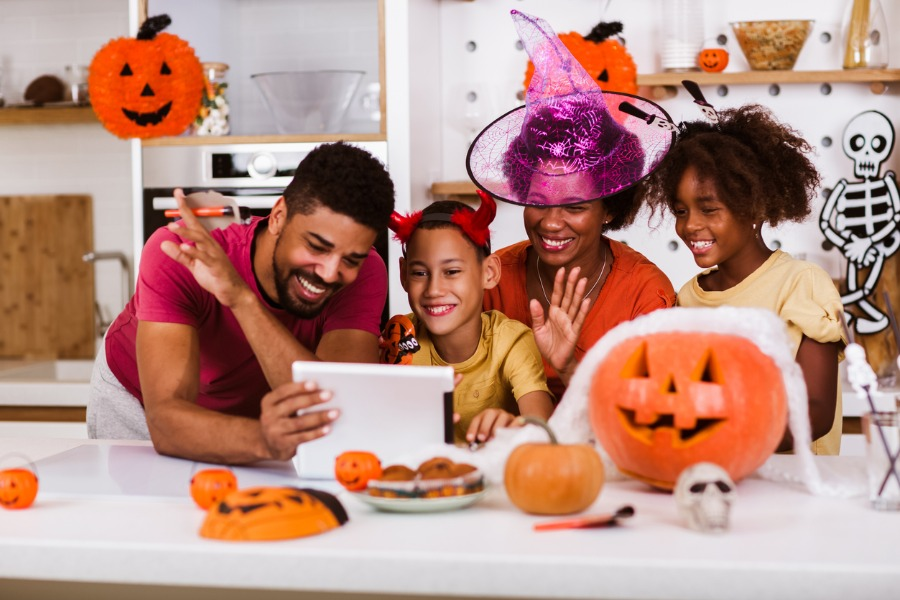 happy-family-mother-father-and-children-prepare-for-halloween-they-picture
