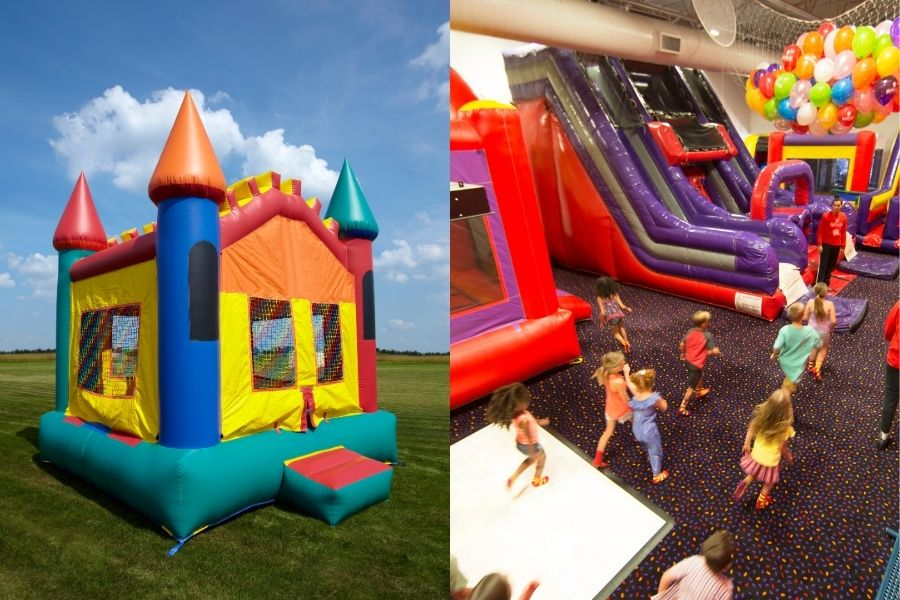 Inflatable for Rent vs. Indoor Bounce House Event